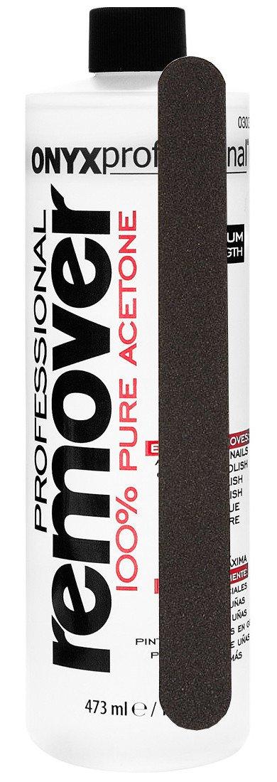 16oz Onyx Professional Acetone Nail Polish Remover w/ Nail