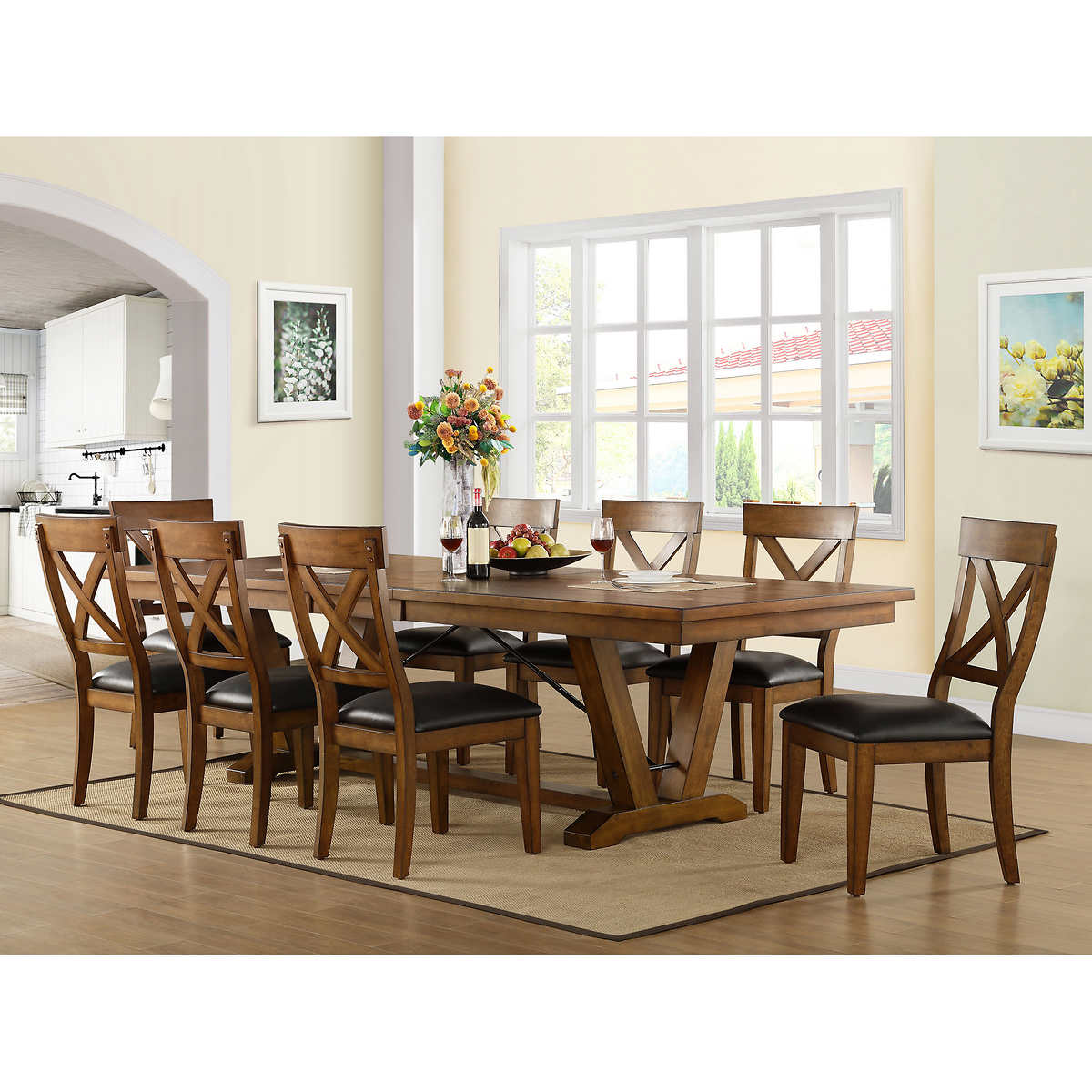 Ymmv In Costco Members Bolton 9 Piece Dining Set For