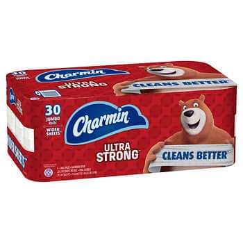 Costco B&M: 30-Count Jumbo Rolls of Charmin Ultra Strong Toilet Paper for $16.99