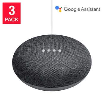 Costco Members: 3-Pack Google Home Mini Smart Speakers for $74.99 with free shipping