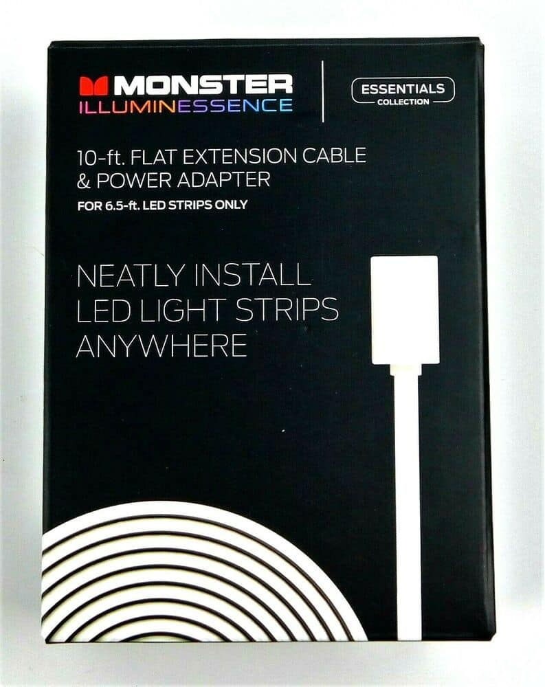 YMMV - Monster Illuminessence 10' Flat Extension Cable & Power Adapter - $1.00