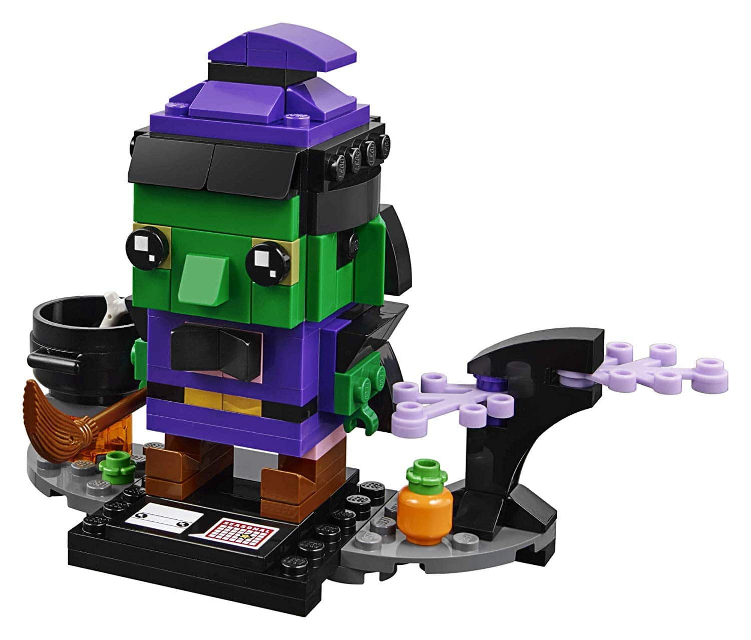 30% off LEGO BrickHeadz Halloween Witch 40272 Building Kit Free One Day Shipping with Prime $6.99
