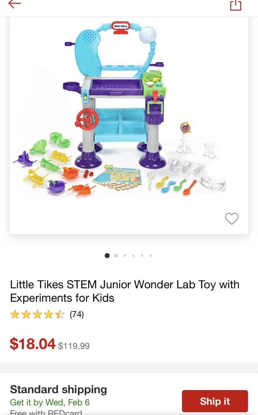 f942514b65 YMMV - Little Tikes STEM Junior Wonder Lab Toy with Experiments for Kids -   18.08 (was  119)