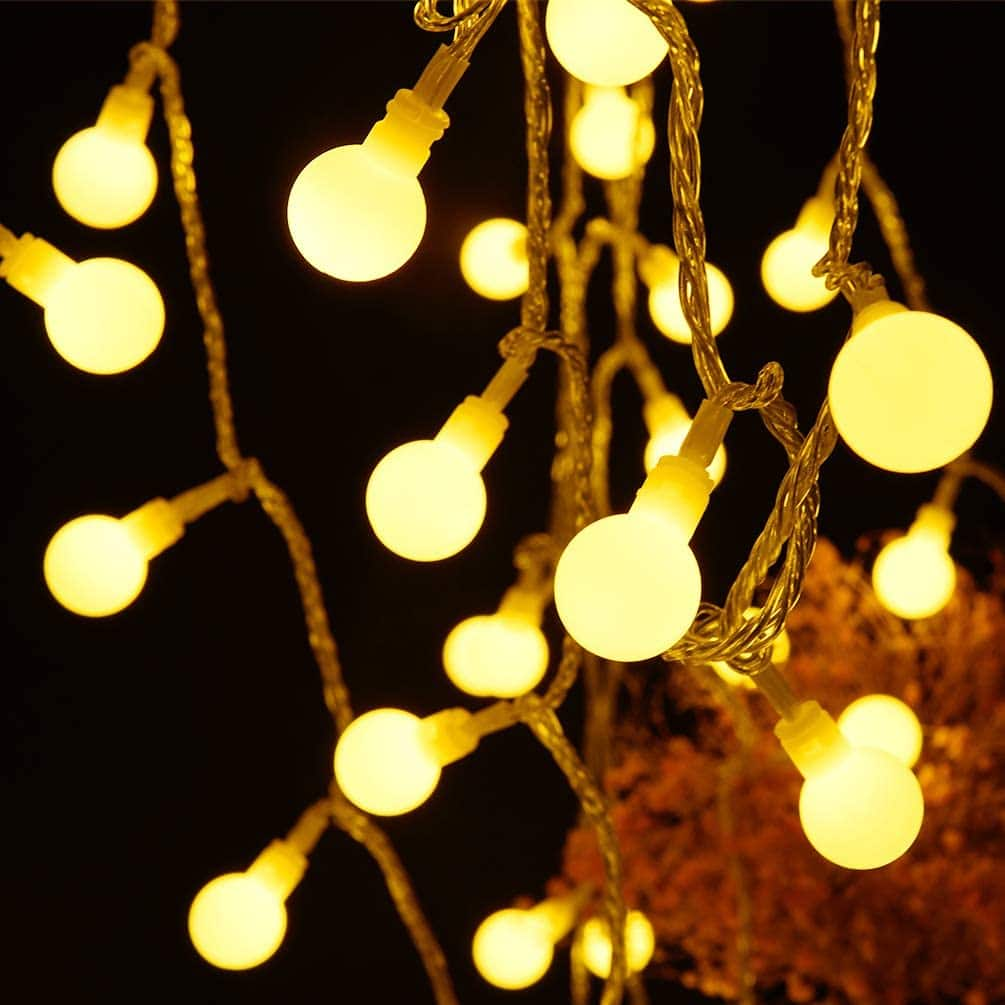 Amazon: Fairy Globe String Lights 60 LED USB Power 19.7ft Ball String Lights with Remote control $6.78