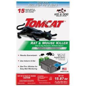 Tomcat 0370910 Tier 1 Refillable Rat & Mouse Bait Station - $9.72 + FS for Prime Members