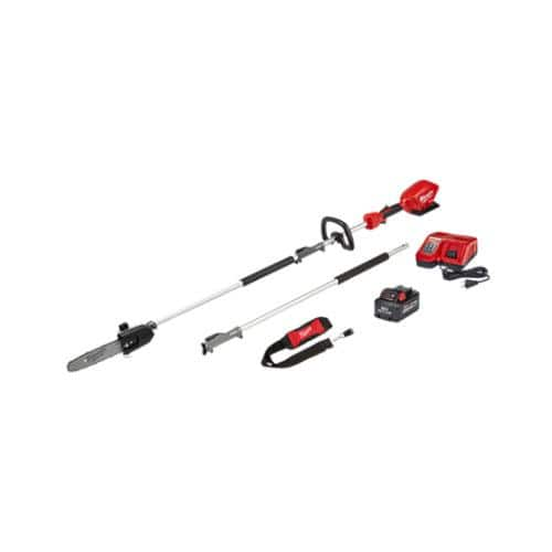 Milwaukee M18 FUEL 10 in. Pole Saw Kit (pole, battery, charger, strap) with QUIK-LOK (reduced price + 15% off) $322.99