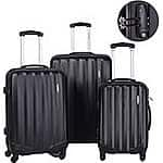 GLOBALWAY 3 Pcs  (20, 24, 28)  Hard Shell Luggage Spinner Travel Set w TSA locks $90 @ Amazon and Ebay