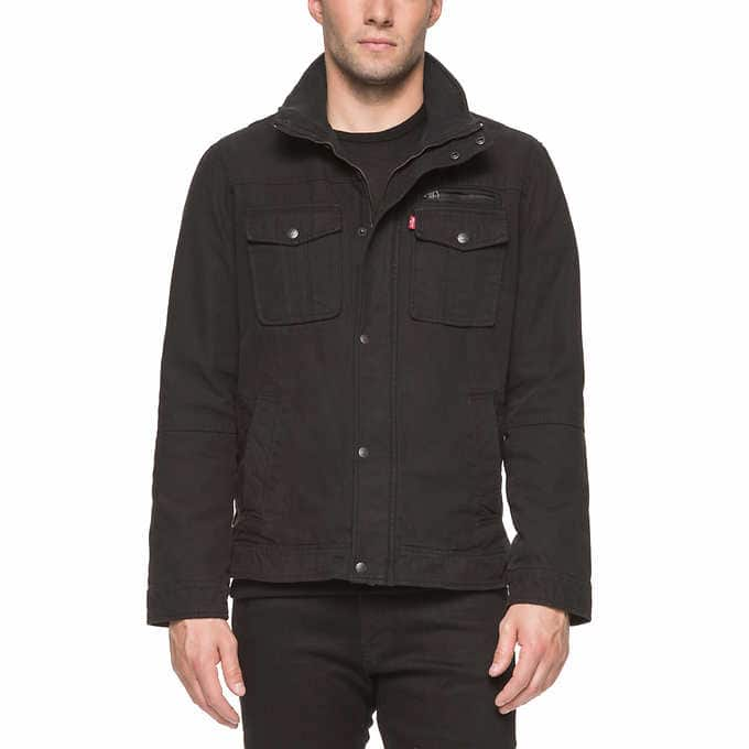 Levi's Men's Full Zip Jacket Black -  XL only - Members only - Clearance @ Costco.com $24.97