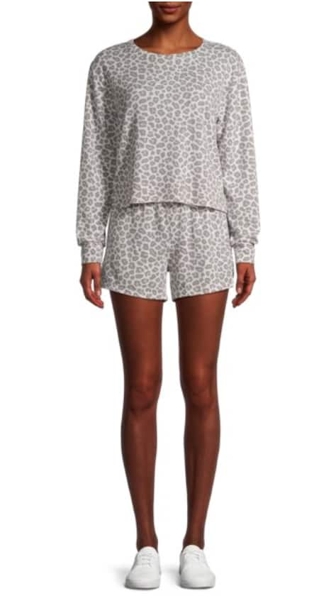 2-Pc Catherine Malandrino Juniors French Terry Sweatshirt and Lounge Shorts (various) $17 + Free Shipping on $25+ or F/S with Walmart+