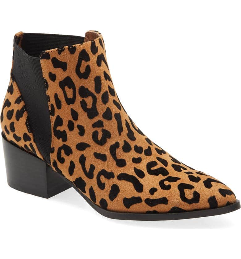Chinese Laundry Women's Finn Bootie (Tan/Black Faux Fur) $15 + Free Store Pickup at Nordstrom Rack