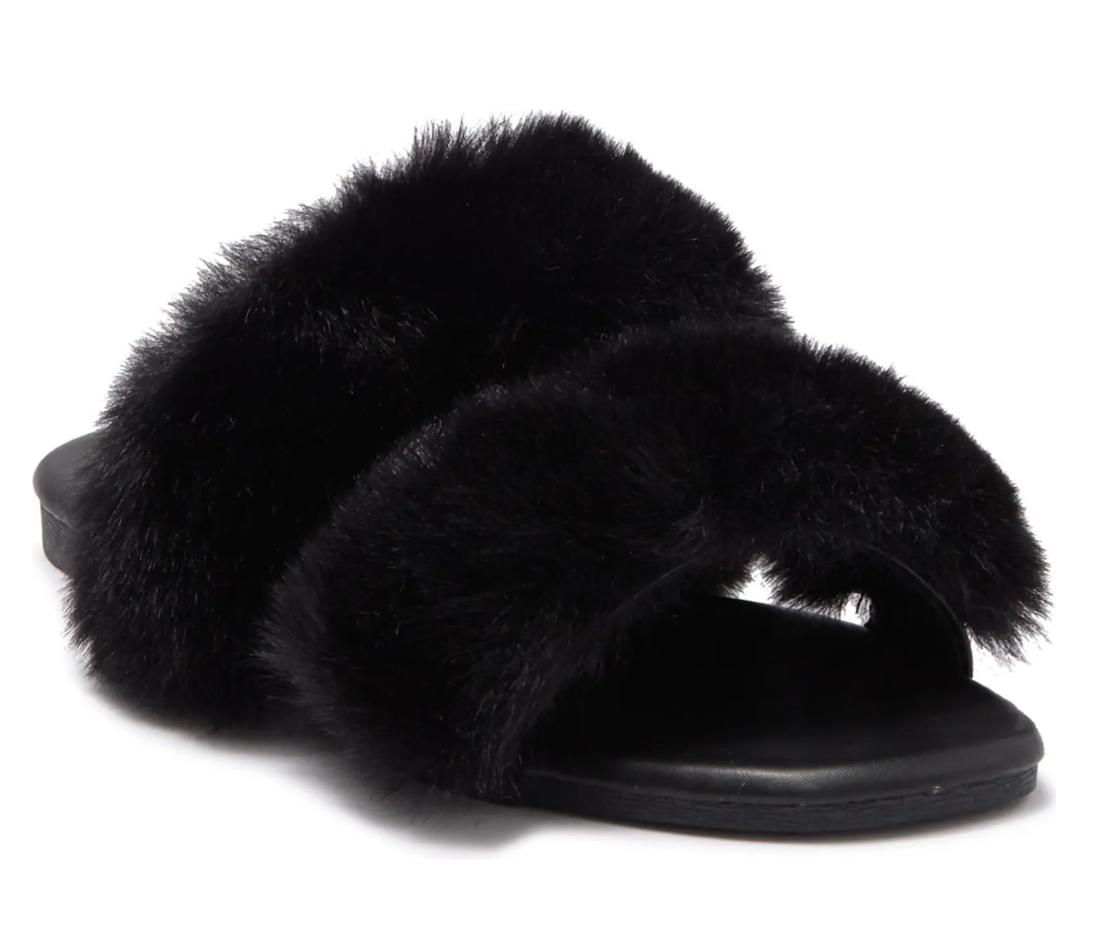 Top Moda Women's Salinas 22 Faux Fur Slide Sandals (various) $7 & More + Free Store Pickup at Nordstrom Rack