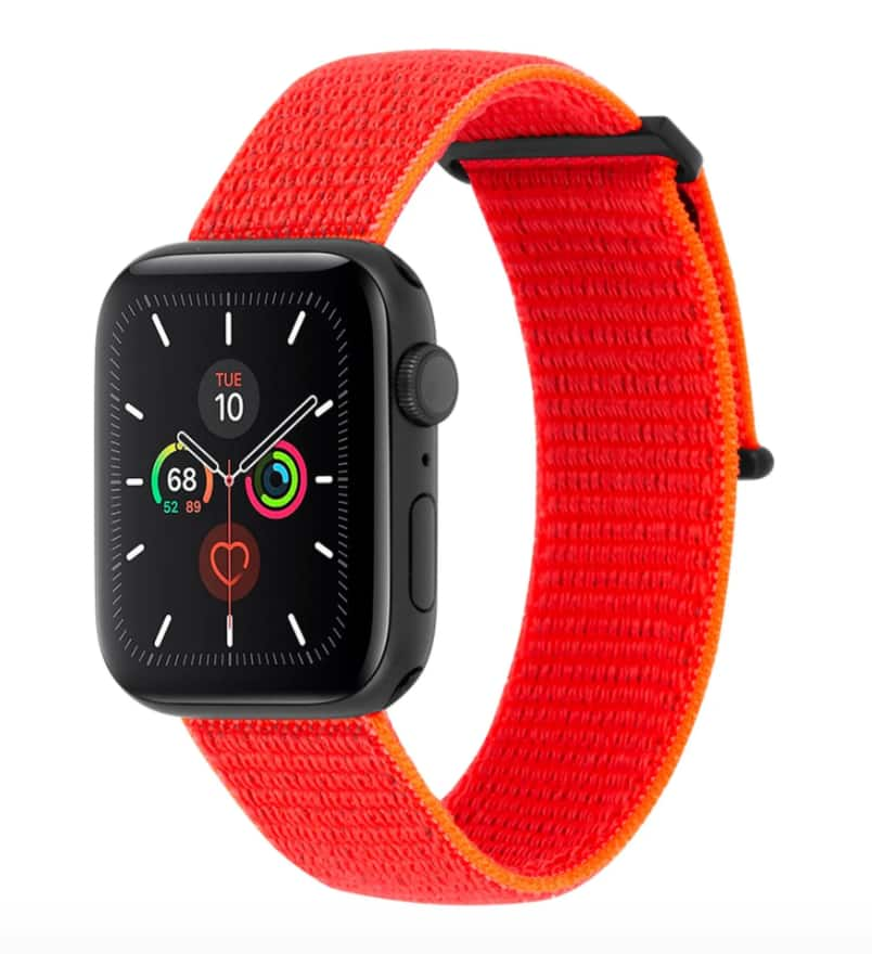38-40mm Case-Mate Apple Watch Nylon Band Series 1-5 (reflective neon orange) $7 & More + Free Store Pickup at Nordstrom Rack