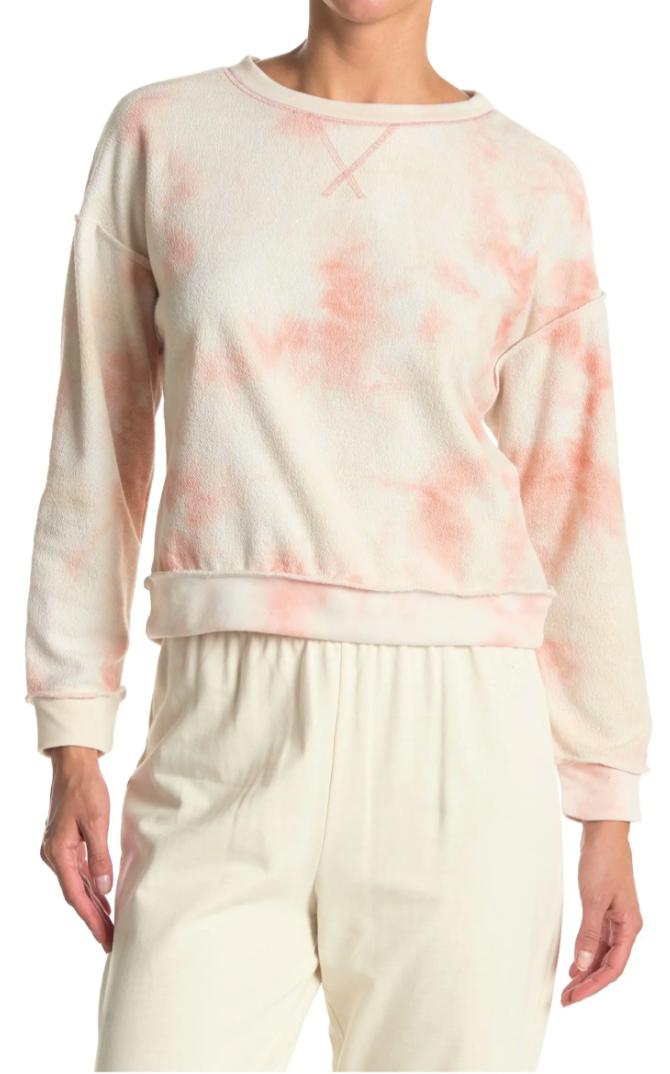 Kirious Women's Reverse Stitch Tie Dye Crew Neck Sweatshirt $5.10 & More + Free Store Pickup at Nordstrom Rack