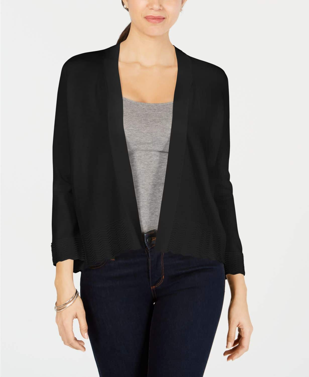 Women's Sweater Sale:Textured Knit Open Cardigan $10, Style & Co Draped High-Low Cardigan $15 & More + Free Ship to Store at Macy's