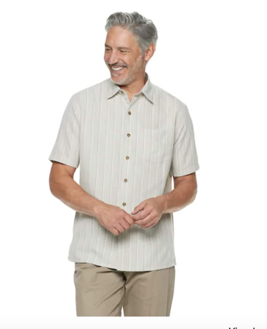 Croft & Barrow Mens' up to 80% Off: Fit Microfiber Button Down Shirt $6.12, Classic Fit Easy Care Pique Performance Polo $6.80 & More + Free Shipping w/$25+ at Kohl's