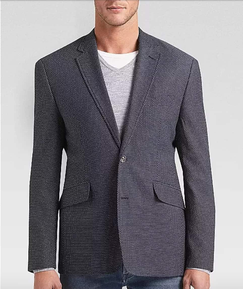 Joseph Abboud Navy Dot Casual Coat $34.99 + Free Shipping