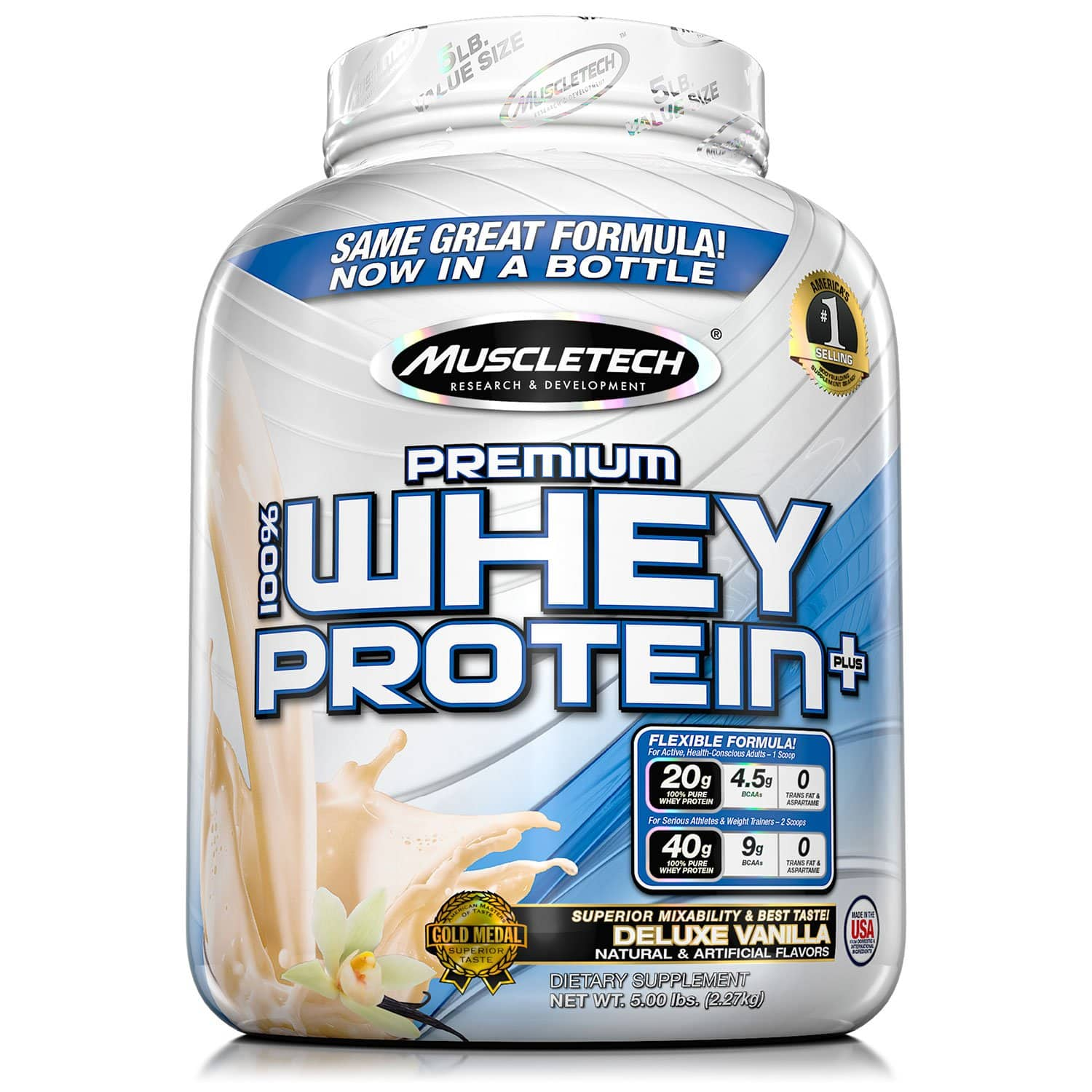 Sams Club Members: 5-Lbs MuscleTech Premium 100% Whey Protein (Vanilla or Chocolate) $23.88 + Free Shipping for Plus Members or Free Store Pickup