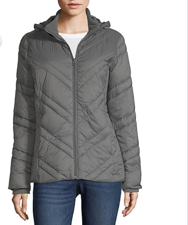 Xersion Women's Water Resistant Lightweight Puffer Jacket $21.24, Jeans from $11.04, & Tee's from $3.39 + Free Ship to Store $25+ at JCPenney