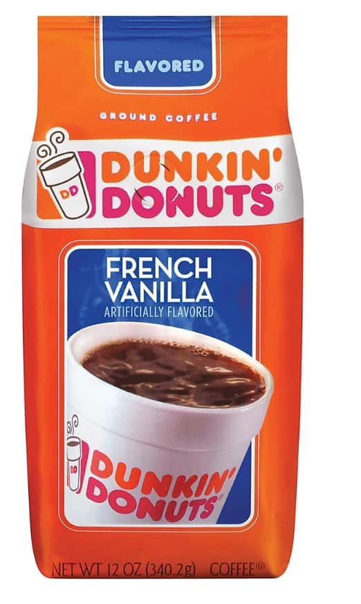10-Count 12 oz Dunkin Donuts Ground Coffee (various ...