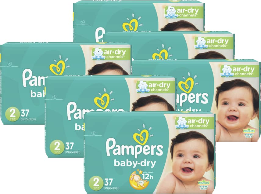 Pampers Diapers Packs 6 for $40 ($6.67 each) after rebate + Free shipping