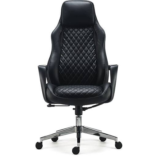 Staples Renaro Bonded Leather Managers Chair (Black) $115 & More + Free Shipping