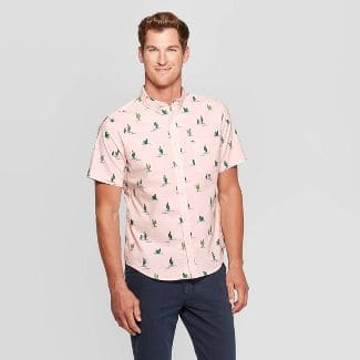 Goodfellow & Co Men's Printed Standard Fit Button-Down Shirt $12 + Free Shipping $25+ or Free Store Pickup at Target where available