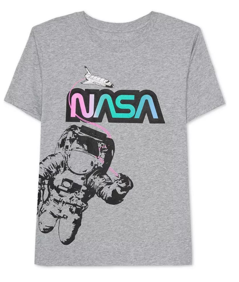 Juniors' Graphic T-Shirts: NASA, MTV, Beatles & More $8 + Free Store Pickup at Macy's