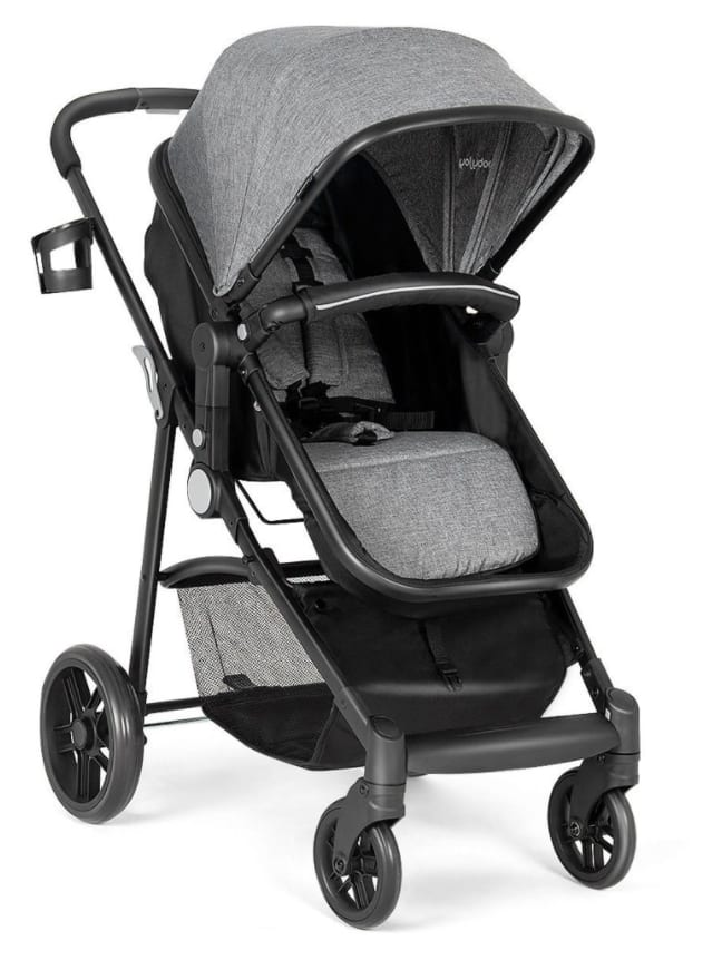 Costway 2 in 1 Foldable Baby Stroller Travel Buggy (Gray or Black) $146 + Free Shipping