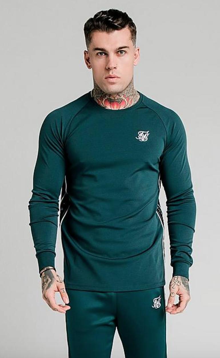 SikSilk Men's Tape Performance Long-Sleeve T-Shirt $10 & More + Free Shipping