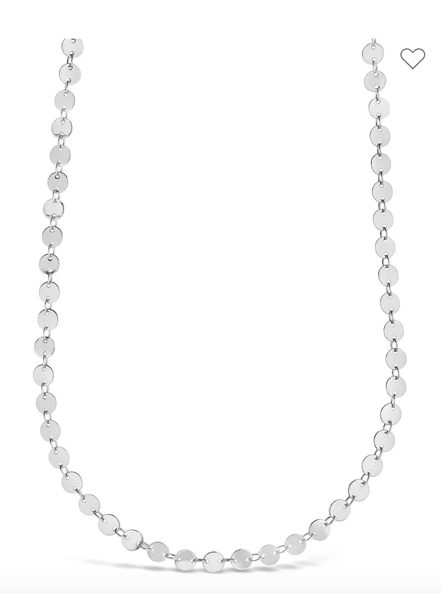 Sterling Forever Women's Rhodium Plated Round Disc Long Chain Necklace $11.60 & More + Free Store Pickup at Nordstrom Rack