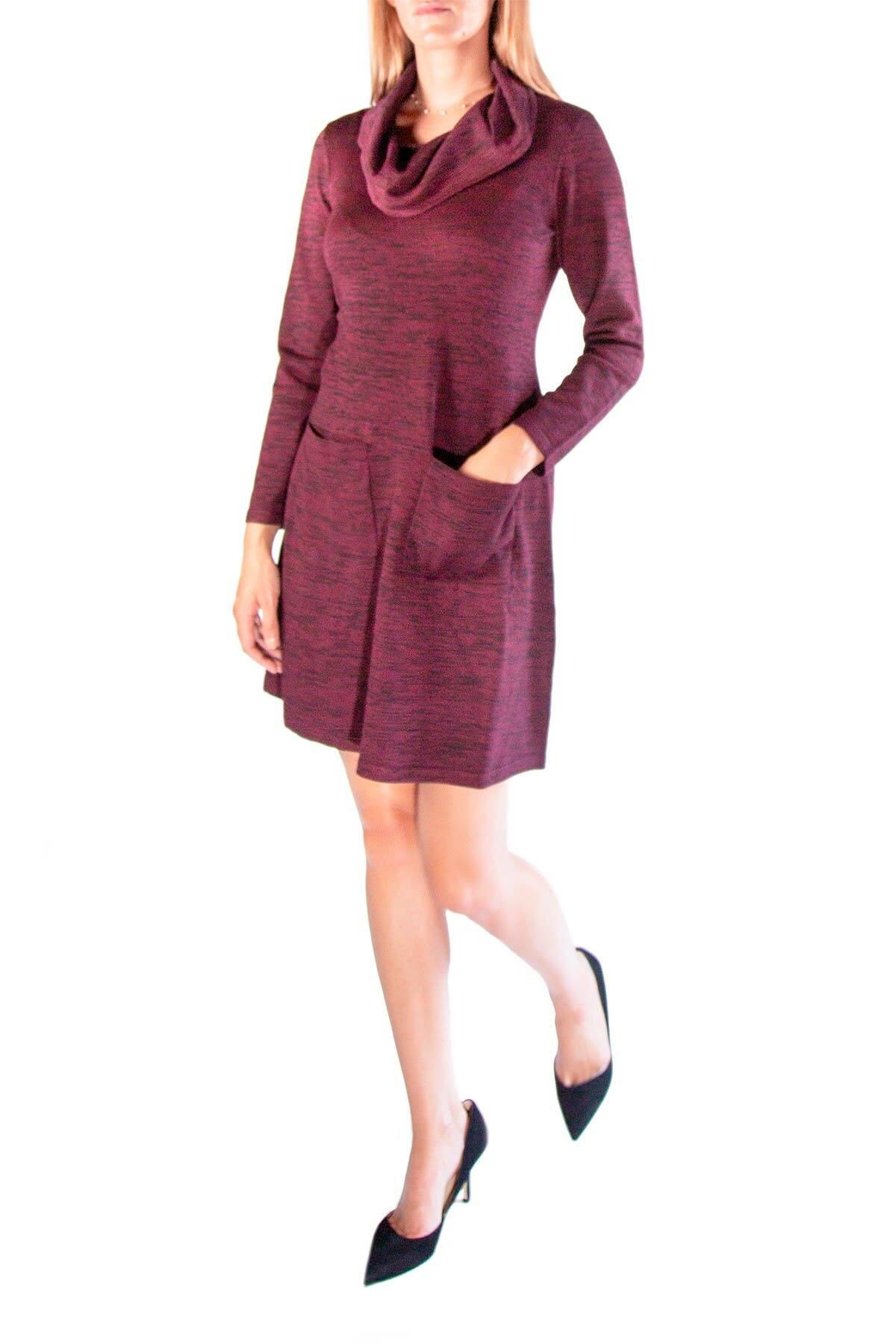 Nina Leonard Women's Cowl Neck Pocket Sweater Dress $5.40 & More + Free Store Pickup at Nordstrom Rack