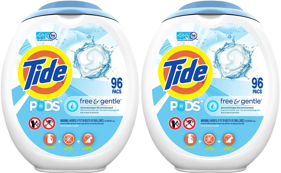 96-Count Tide Pods HE Laundry Detergent Pacs (Free and Gentle) 2 for $27.74 w/ S&S + Free Shipping
