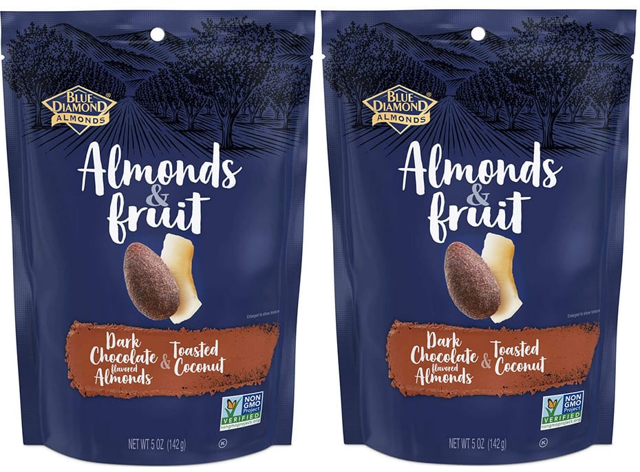 5-Oz Blue Diamond & Fruit Bag (Dark Chocolate & Toasted Coconut) 2 for $4.99 w/ S&S + Free Shipping w/ Prime or on $25+