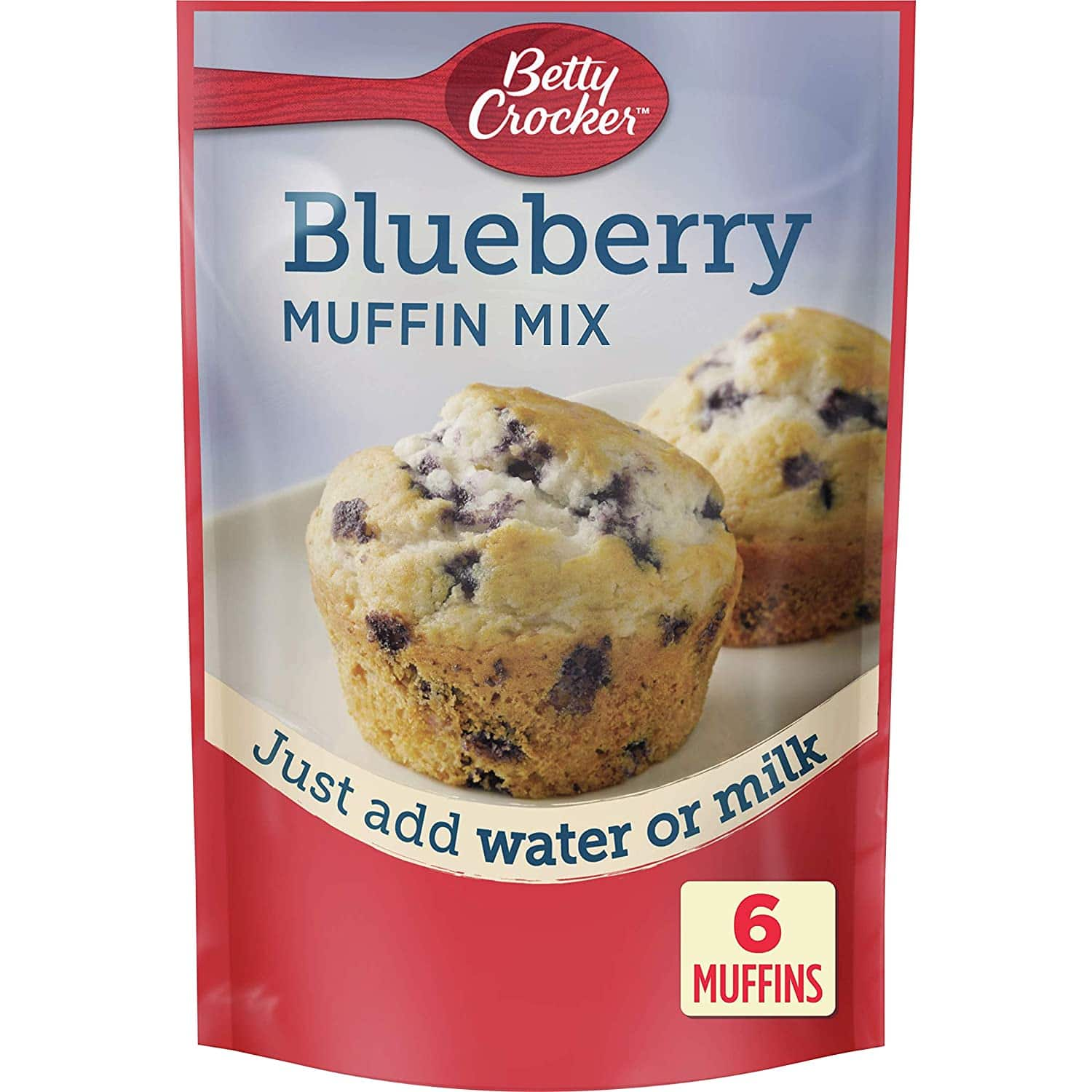 9-Pack 6.5-Oz Betty Crocker Muffin Mix (Blueberry) $5.19 w/ S&S + Free Shipping w/ Prime or on $25+