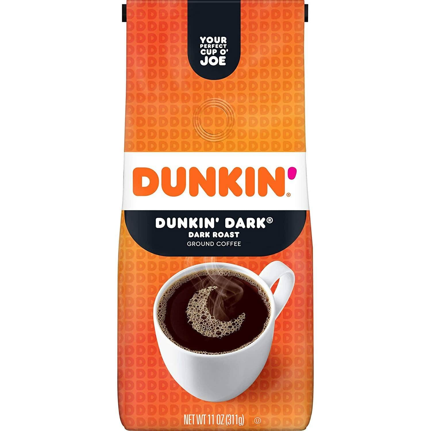 11-Oz Dunkin' Ground Coffee (Dark Roast) $3.67 w/ S&S + Free Shipping w/ Prime or on $25+