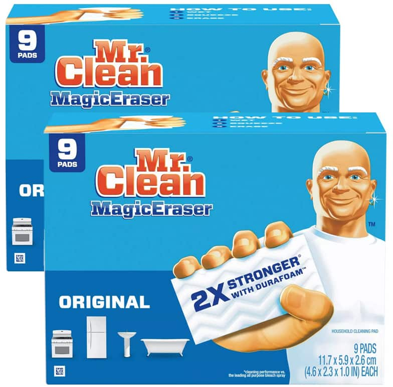 *Back* 18-Count Mr. Clean Magic Eraser Cleaning Pads w/ Durafoam (Original) 2 for $9.75 w/ S&S + Free Shipping w/ Prime or on $25+