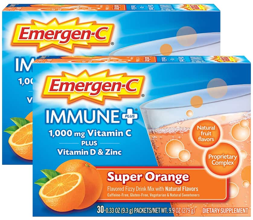 30-Count Emergen-C Immune+ Powder Drink Mix w/ Vitamin C (Super Orange) 2 for $13.77 w/ S&S + Free Shipping w/ Prime or on $25+