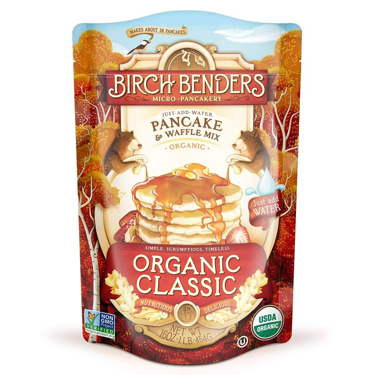16-Oz Birch Benders Organic Classic Pancake and Waffle Mix $3.26 w/ S&S + Free Shipping w/ Prime or on $25+