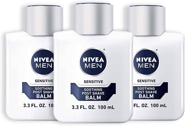 Prime Members: 3-Pack 3.3-Oz Nivea Men Sensitive Post Shave Balm $5.37 w/ S&S + Free Shipping