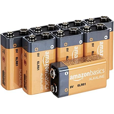 8-Pack Amazon Basics 9 Volt Alkaline Batteries $6.23 w/ S&S + Free Shipping w/ Prime or on $25+