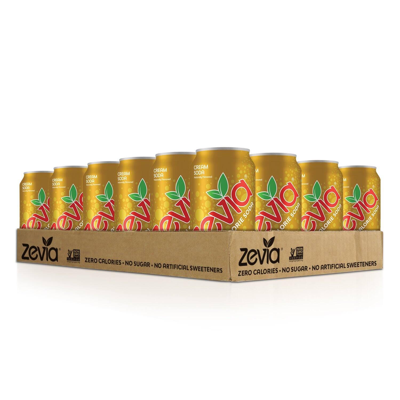 24-Pack 12-Oz Zevia Zero Calorie Soda (Cream Soda) $11.35 w/ S&S + Free Shipping w/ Prime or on $25+