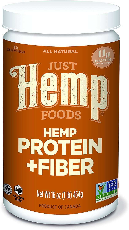 16-Oz Just Hemp Foods Hemp Protein Powder Plus Fiber $2.04 + Free Shipping w/ Walmart+ or on $35+