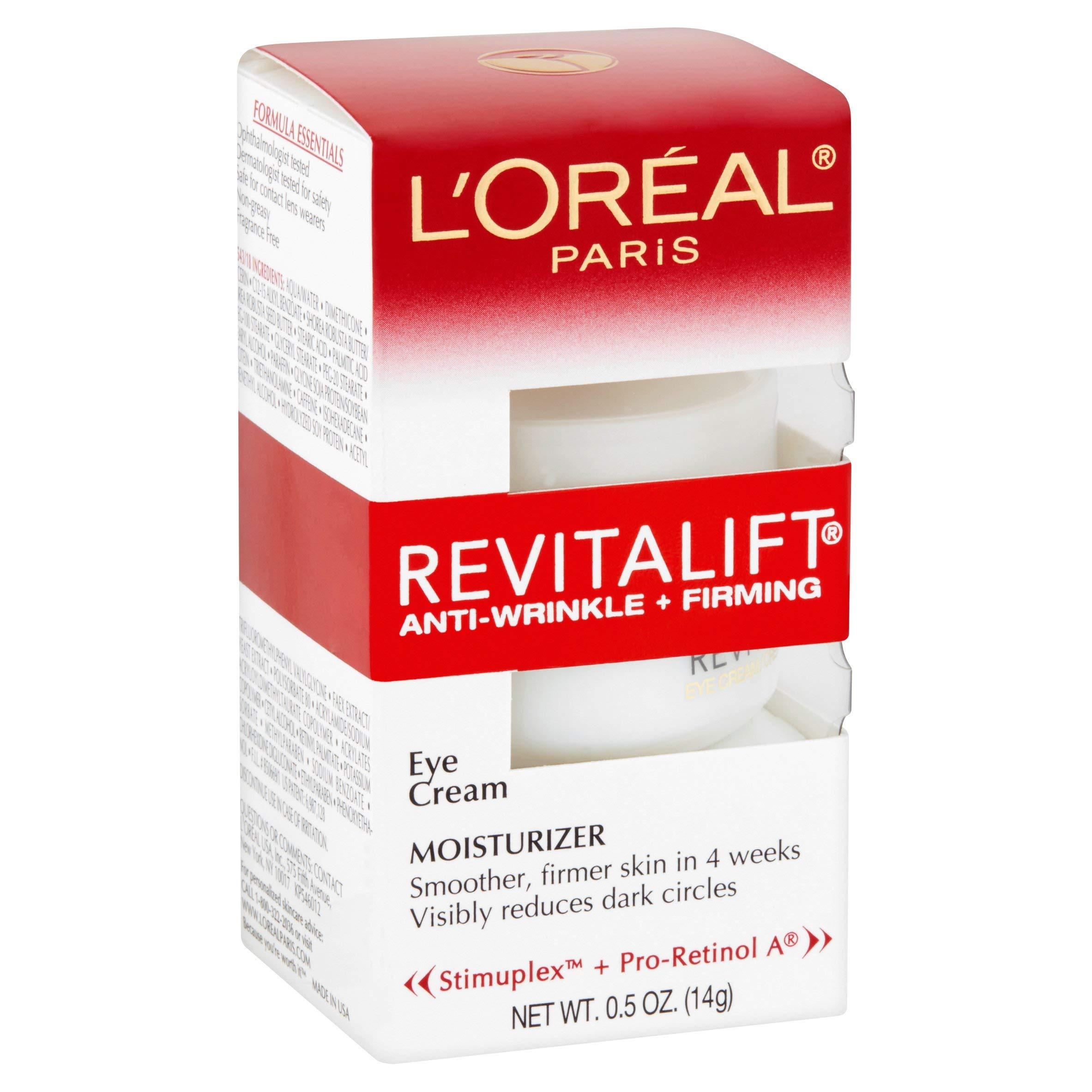0.5-Oz L'Oreal Paris Revitalift Eye Cream 2 for $13.03 w/ S&S + Free Shipping w/ Prime or on $25+