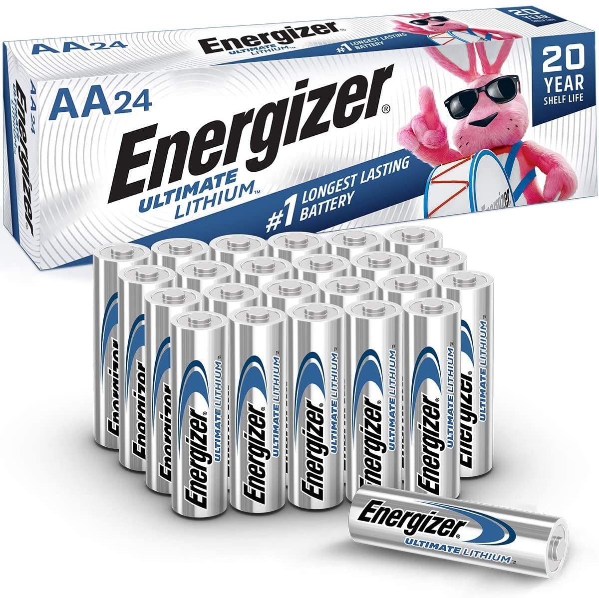 24-Count Energizer Ultimate Lithium AA Batteries $21.67 w/ S&S + Free Shipping