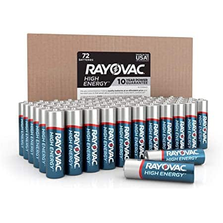 72-Count Rayovac High Energy AAA AlkalineBatteries$14.62 w/ S&S + Free Shipping w/ Prime or on $25+