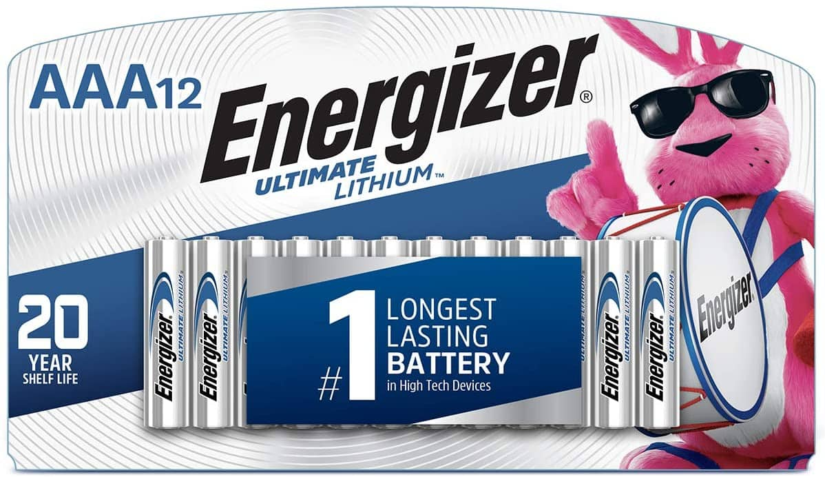 12-Count Energizer Ultimate Lithium AAA Batteries $12.18 w/ S&S + Free Shipping w/ Prime or on $25+
