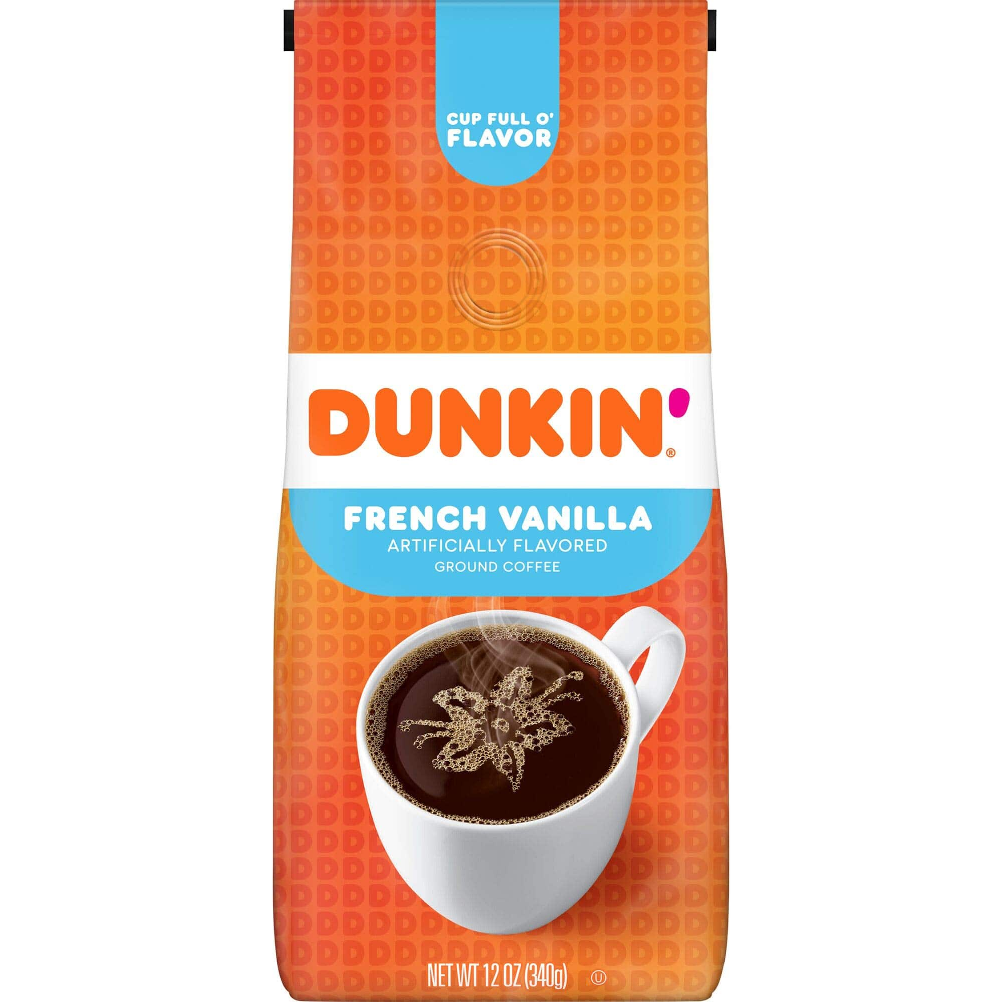 12-Oz Dunkin' Ground Coffee (French Vanilla) $3.41 w/ S&S + Free Shipping w/ Prime or on $25+