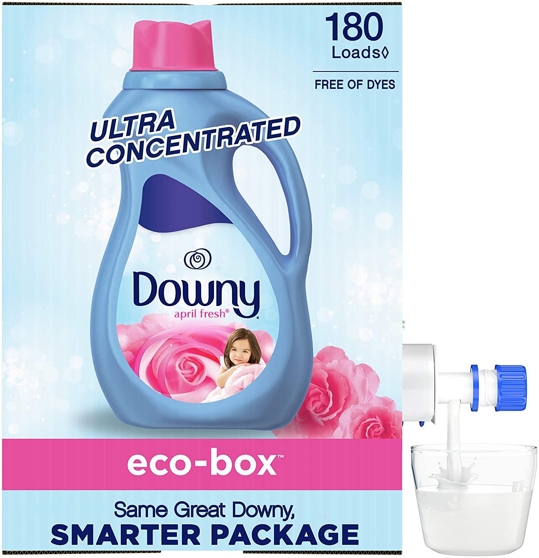 105-Oz Downy Liquid Fabric Softener Eco-Box (April Fresh, 180-Loads) $7.40 w/ S&S + Free Shipping w/ Prime or on $25+