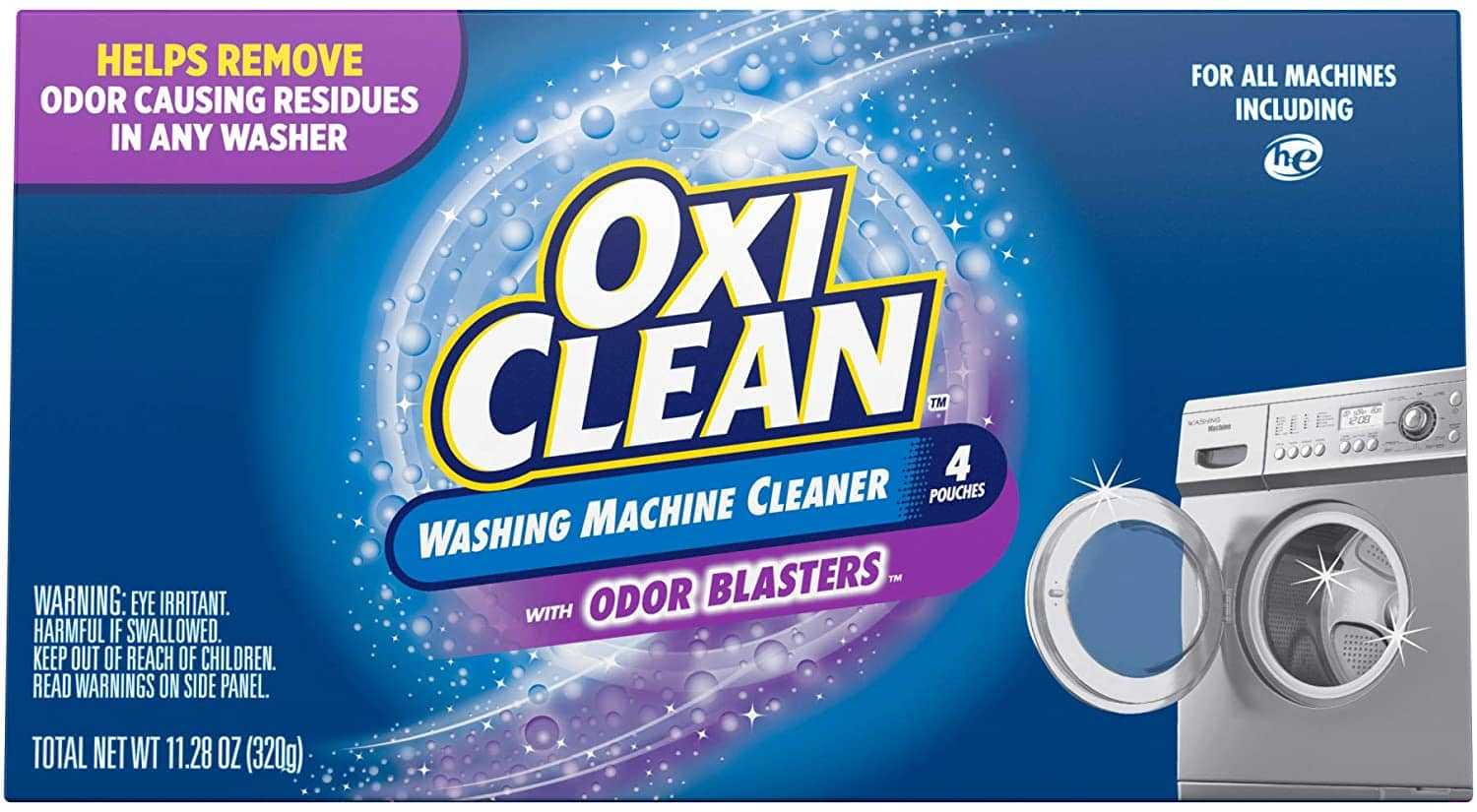 4-Count OxiClean Washing Machine Cleaner with Odor Blasters $4.87 w/ S&S + Free Shipping w/ Prime or on $25+