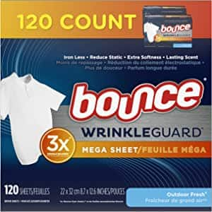 120-Ct Bounce WrinkleGuard Mega Dryer Sheets (Outdoor Scent) $5.70 w/ S&S + Free Shipping w/ Prime or $25+